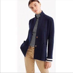 Jcrew Marino Wool Sweater Blazer
